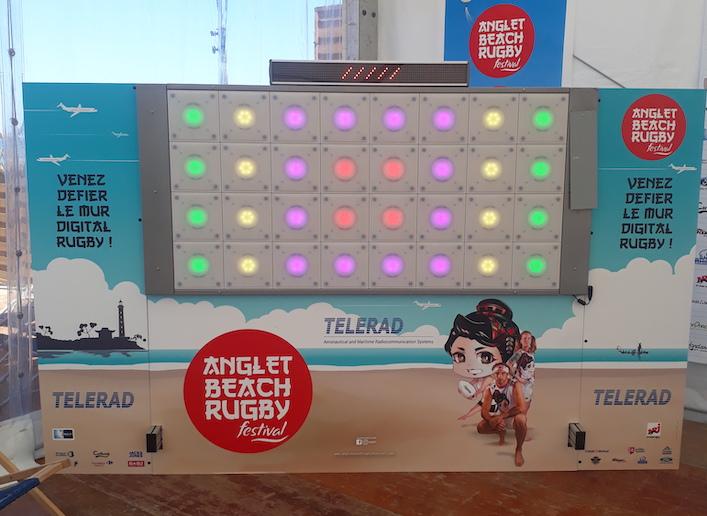 Mon Mur Digital à l'image de l'événement Anglet Beach Rugby