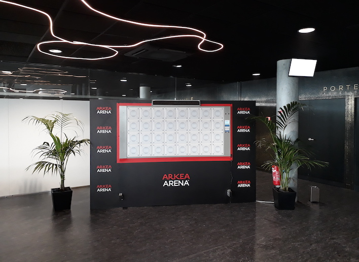 Mon Mur Digital à l'image de l'Arkea Arena lors d'une manifestation sportive