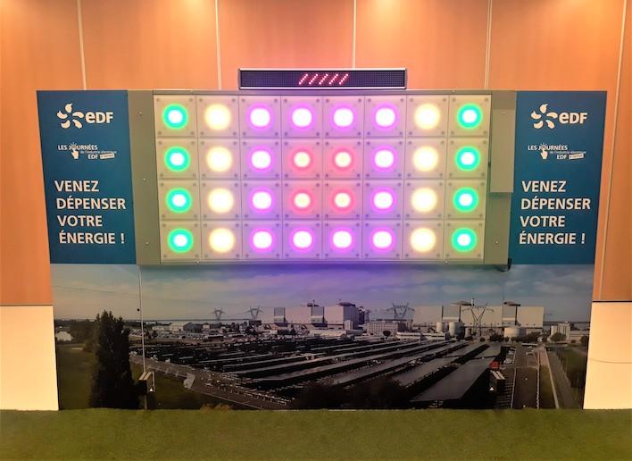 Mur digital à l'image de EDF lors d'un événement d'entreprise