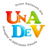Logo Union Nationale des Aveugles et Déficients Visuels UNADEV